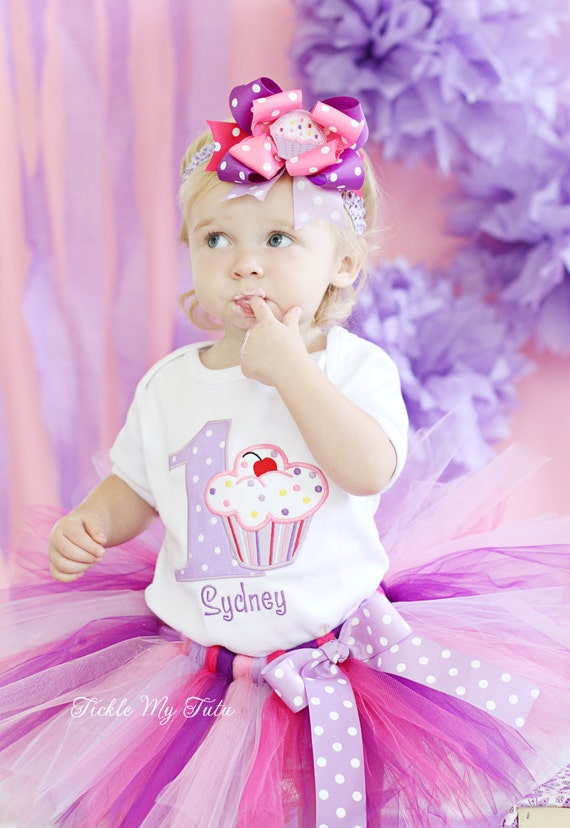 Lil' Cupcake Birthday Tutu Outfit-First Second Birthday Cupcake Tutu Set-Cupcake Birthday Outfit-Cupcake Party Outfit *Bow NOT Included*