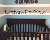 """SALE :) Wall Letters - Painted Wood - Storybook - plus other Fonts - Gifts and Decor for Nursery, Home, Playrooms, Dorms - 10"""" Size"""