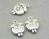 Sheep Charms Antique Silver 4pcs zinc alloy beads 12X19mm CM0858S