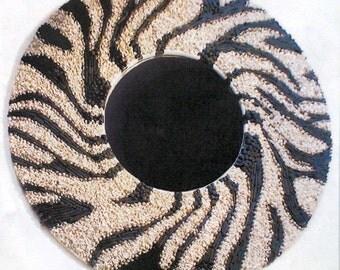 Wild Zebra  Contemporary Sea Shell Mirror