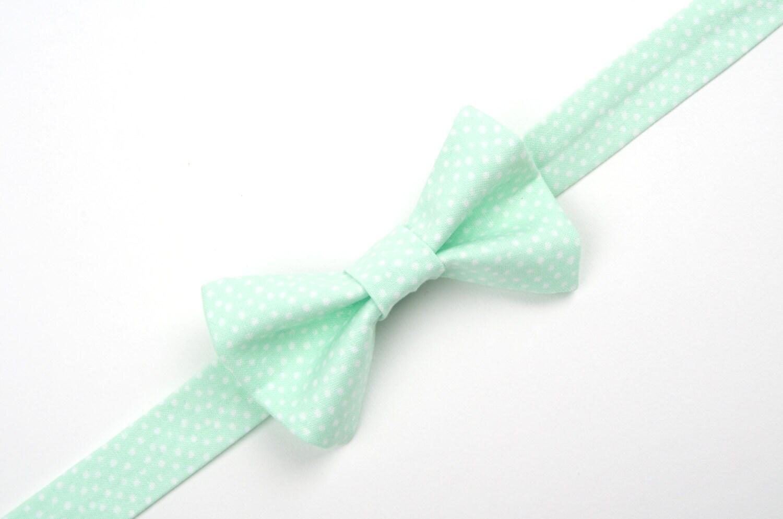 mint polka dot bow tie seafoam bow tie mint and white dot