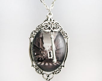 Streets Of Italy Necklace Photograph Pendant Handmade Europe art
