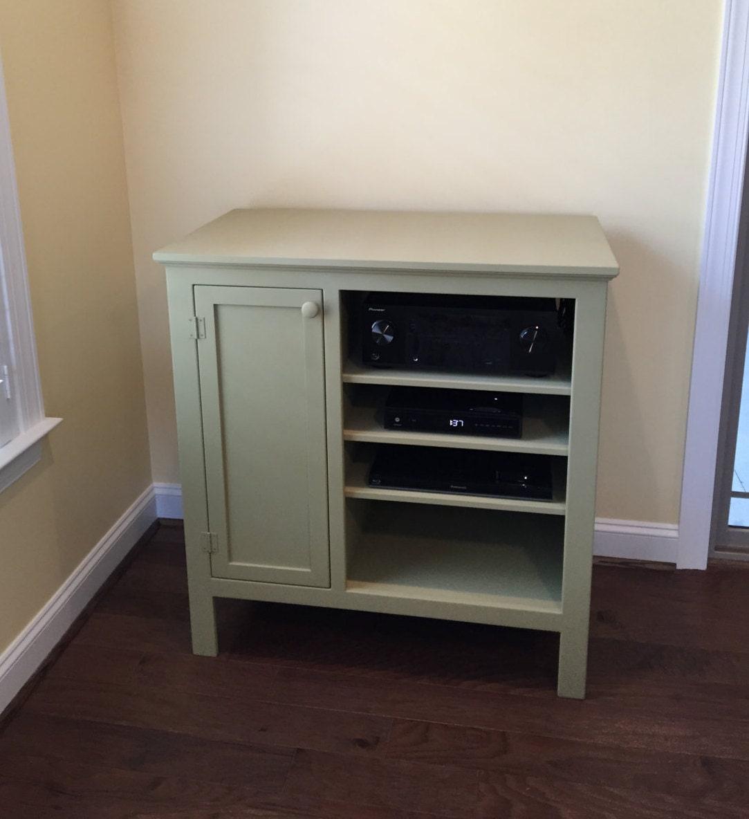 Painted Custom Media Console Tv Stand Tv Component Cabinet