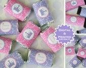 Princess Miniature Candy Bar Wraps - Chocolate Bar Wraps - Princess Candy Labels - Princess Party Favors - Digital & Printed