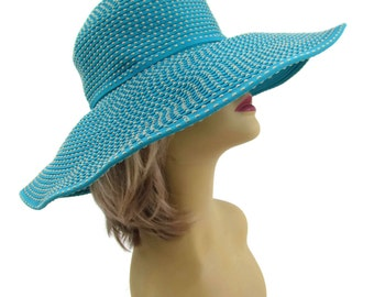 Blue Sun Hat, Wide Brim Hat, Floppy Sun Hat, Womens Hats - Summer Hats, Sun Hats, Beach Hat, Hats Women