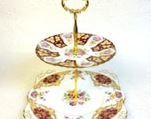 """2 Tier Tuscan """"Provence"""" and Royal Grafton """"Gainsborough"""" Cake Stand Stand"""