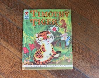 Vintage Children's Book - Timothy Tiger (A Rand McNally Elf Book 1959)