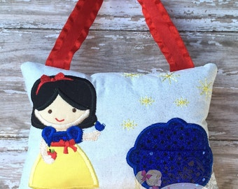 Personalized Girls Tooth Fairy Pillow Embroidered