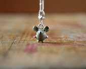 Mouse necklace Enamel charm necklace - Cute jewellery - Etsy UK - Gifts for Her - Gifts for women - animal jewelry - adorable - for girls