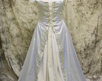 Light Blue Renaissance Costume-Halloween Costume-Medieval Dress-LARP-Ren Fair-Steampunk-SCA-Adult Costume-Medieval Fantasy Dress-Item #114