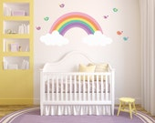 Rainbow Decal REUSABLE Fabric Ecofriendly NO PVCs Decals 633667