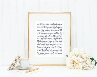 "Fine Art Print - ""Lord's Prayer"" - Mirabelle Creations"