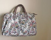 1990s Floral Purse // Flower Print Tapestry Medicine Bag