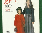 McCalls 9428 Girl's Country Comfort Raised Waist Dresses Size 2 to 6  UNCUT
