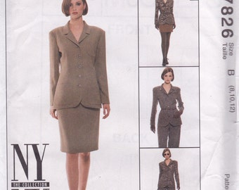 Sophisticated Suit Pattern McCalls 7826 Sizes 8 - 12 Uncut