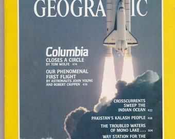 Vintage National Geographic Magazine, Vol 160, No 4, October 1981, Crosscurrents, Pakistan, Mono Lake, Wilson, Columbia Shuttle, Aphrodisias