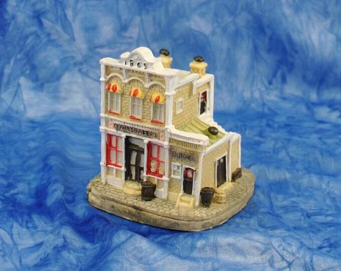 Vintage Liberty Falls Clara's Bakery, AH00, By The Americana Collection, 1993, Clara Goodfriend, Bakery, Pie, Cake, Buns, Flour