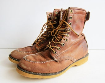 Boots Moc Toe On Etsy A Global Handmade And Vintage