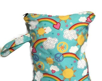 Wet Bag for Cloth Diapers, Waterproof Wet Bag, Large Wet Bag, Zippered Wet Bag, Baby Shower Gift