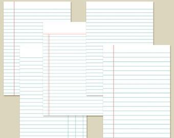 "5x7"" Planner Inserts Filofax Inserts Ledger Set 4 Printable INSTANT DOWNLOAD"