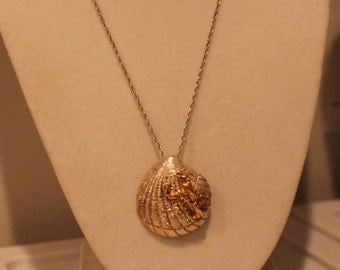 Sterling Shell & Lobster Necklace