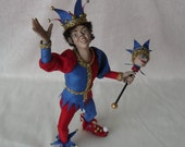 Dollhouse Doll, Jay The Jolly Jester, made by Linda Elgenes By SnowflakeMiniatures