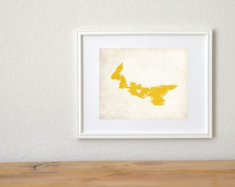 Prince Edward Island Canada Customizable Map Art 8x10 Print