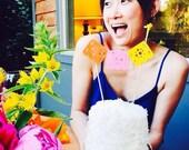 Bride and Groom Papel Picado Cake Topper