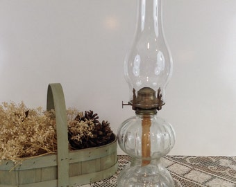 RESERVED do not Purchase Oil Lamp Clear Glass - Oil fills all the way into the bottom chamber