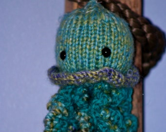 Little Knit Jellyfish Amigurumi Toy for play or decor - Ocean Themed Nursery