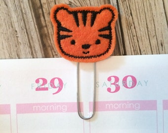 Tiger Planner Clip for use with Emily Ley Planner, Kikki K Planner, Plum Paper Planner and more, Tiger Gift