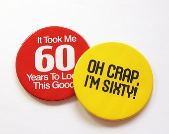 Sixty, 60th Birthday Coasters, Birthday Party, 60th, Drink Coasters, Set of Coasters, Coasters, birthday, Humor, Funny Coasters (5048c)