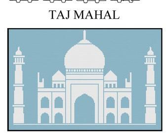 TAJ MAHAL - Home Decor Counted Cross Stitch Pattern PDF - Plus Free Bonuses - Instant Download