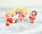 Vintage Cabbage Patch Babies, Miniature Pliable Plastic by O.A.A. Inc.