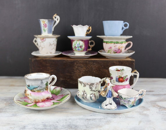 vintage tea party collection assorted tea cups