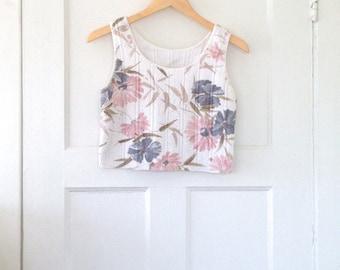 VTG Cropped Floral Top S