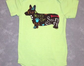 Pick your DOG BREED!  Custom baby bodysuit with dog breed of your choice - Boy, Girl, or Gender-Neutral onsie