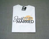 Just Married Personalized Gold Wedding Ring Bands T-Shirt