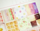 made in Japan x Taiwan Designer masking tape-Limited Edition OURS PICNIC Sandwich Waffles Toast Rose Cookies 1 ROLL