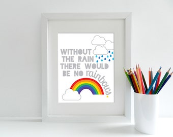 Without The Rain There Would Be No Rainbows - 8x10 inch print