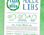 MASH Libs Bridal Shower Game / Geek Wedding Reception Activity / Engagement Party / Rehearsal Dinner - Printable OR Printed