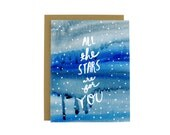 Inspirational Greeting Card - Encouragement Card - All The Stars Are For You