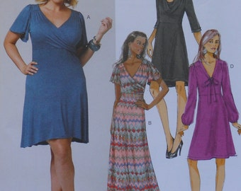 Wrap Style Dress Pattern, Misses, Womens Dress,  Butterick B5794, Uncut, OOP