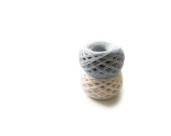 Linen yarn linen thread 100%pure linen natural 3ply