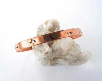 Earth Connection // Native Symbols Copper Bangle