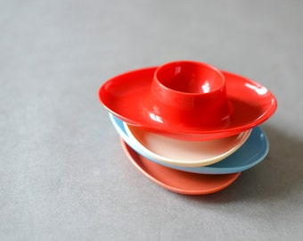 Vintage East German egg cups holders Mid-Century Modern houseware kitchenware 60s