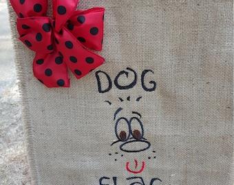 Dog Collector, Hostess Gift, Garden Flag, Burlap Flag, Burlap Garden Flag, Dog Flag, Welcome Flag, Outdoor Flag, Dog Face Flag