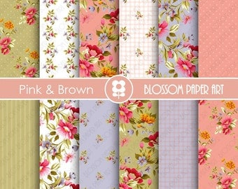 Papeles de rosas papeles decorativos vintage papeles - Papeles decorativos para imprimir ...