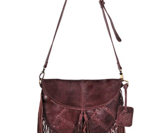 GYPSY SOUL. leather bags / brown fringe leather purse / fringe leather bag / leather crossbody bag. Available in different leather color