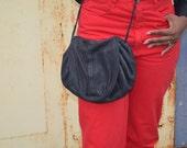 Black Vintage Purse, Handmade Leather Bag, Vintage Shoulder Bag, Women's Handbag, Ladies' Pocketbook